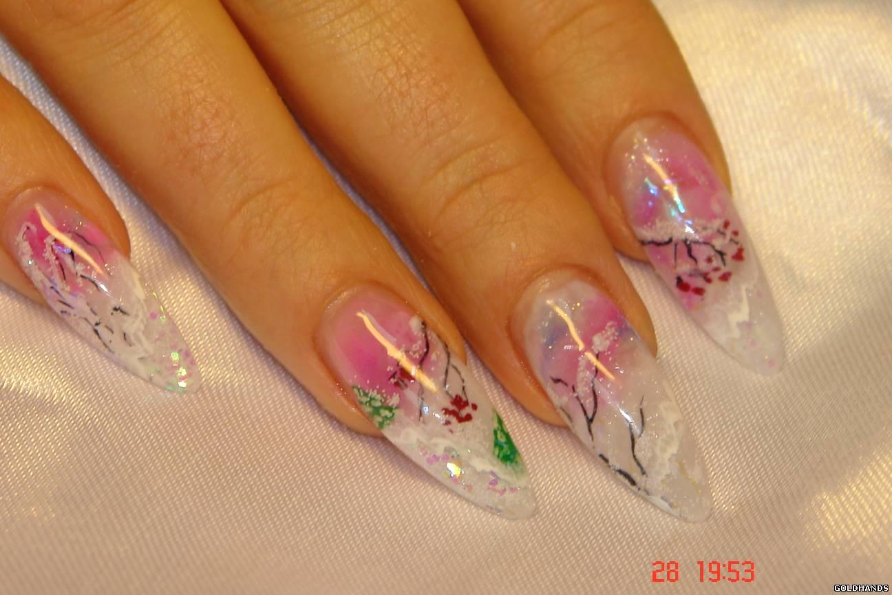 Ногти с зимним дизайном фото